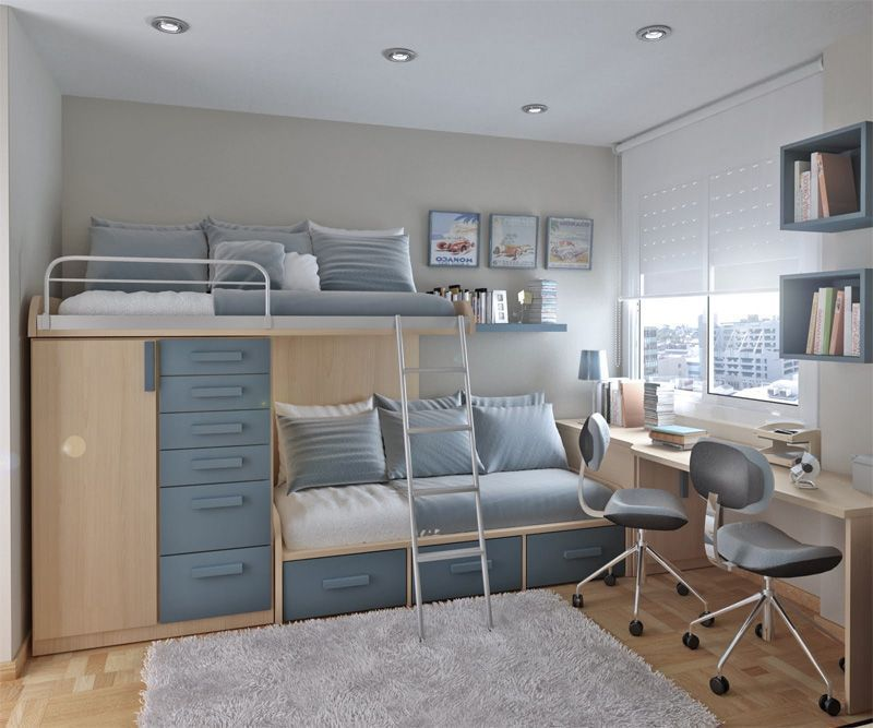 Two Beds with Study Desks