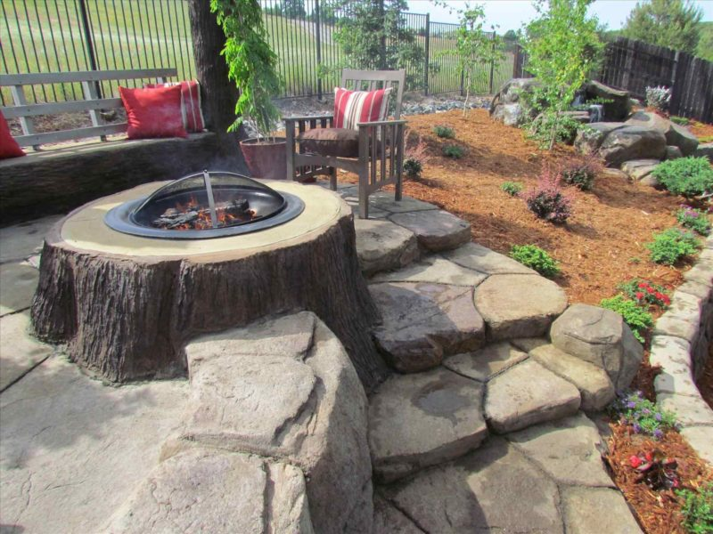 Backyard In Ground Fire Pit Ideas