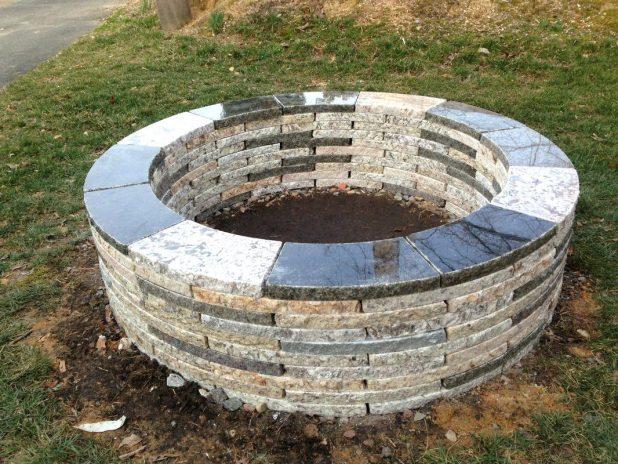 Bricks fire pit