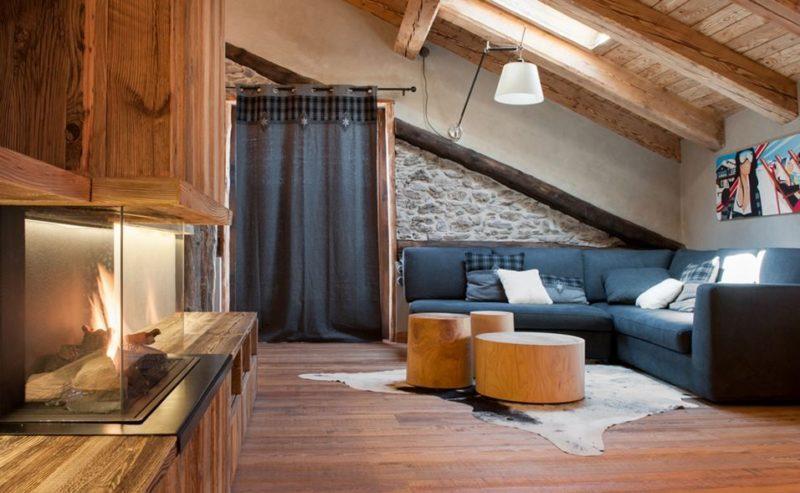 Chalet di Giano Mansard Living room