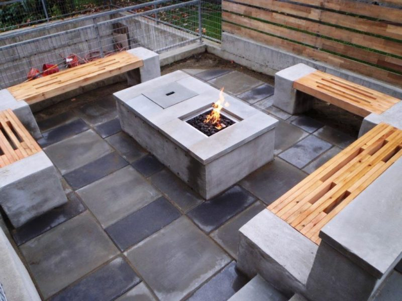 Cinder Block Ideas for Outside Landscaping Fire Pit