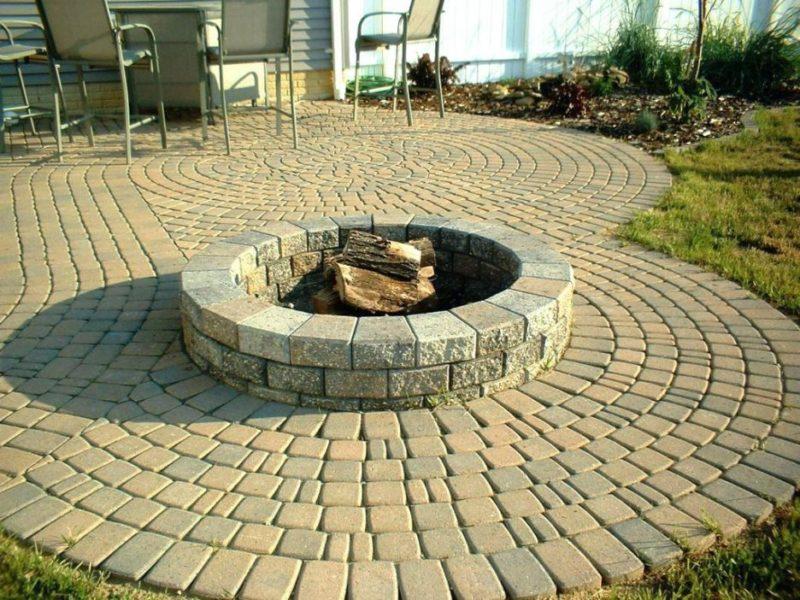 Fire pit stone blocks