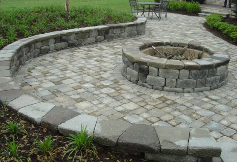 Paver patio with fire pit design ideas