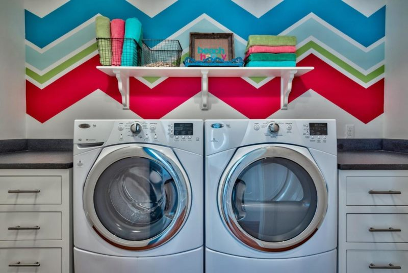 Cheerful laundry room