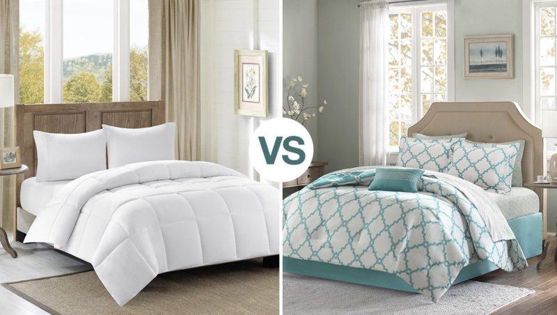 duvet vs comforter which is better. Black Bedroom Furniture Sets. Home Design Ideas