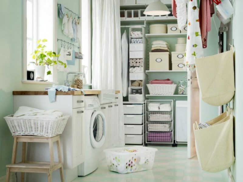 Hanging racks ideas laundry room