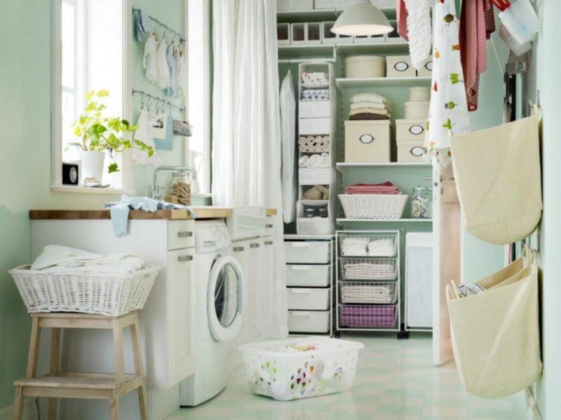 Hanging racks ideas laundry room
