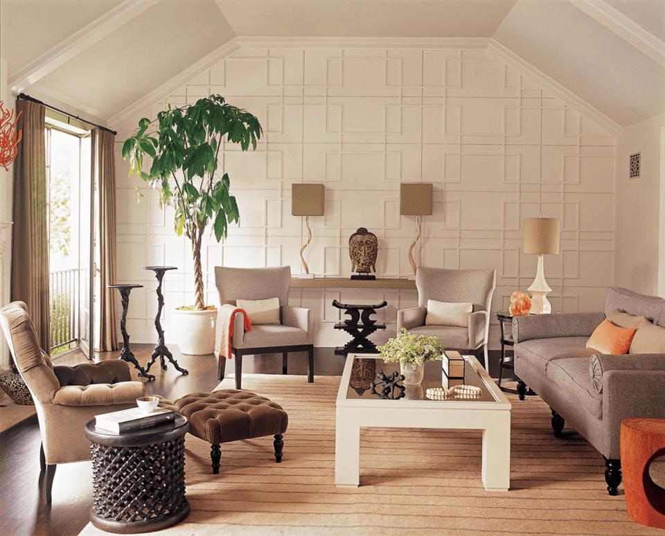 Tone-on-Tone Living Room