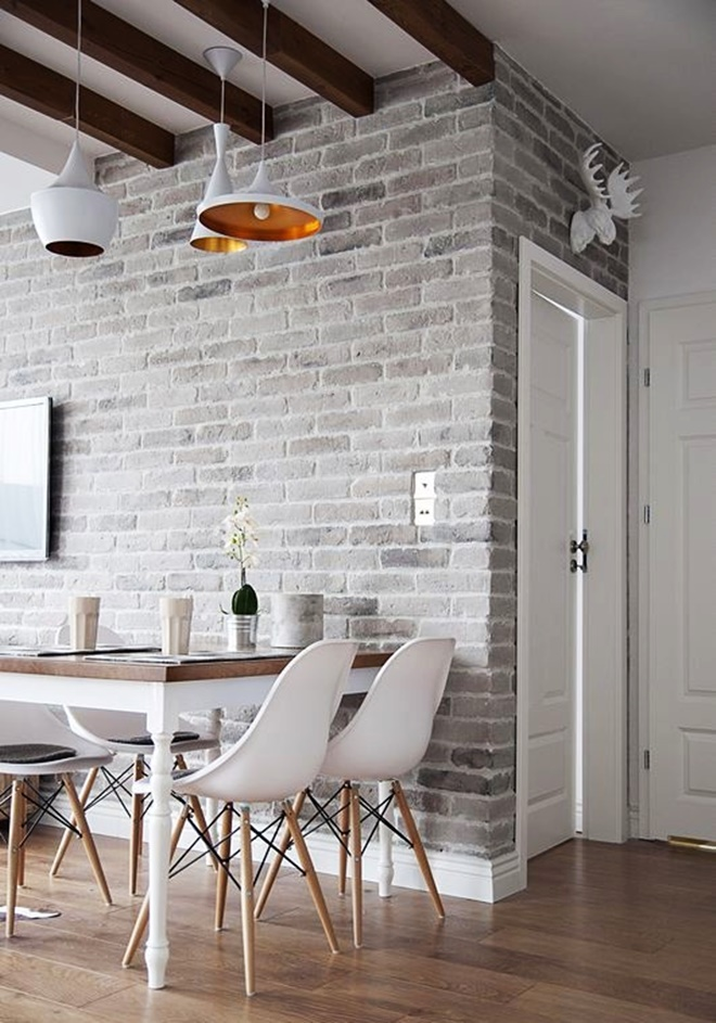 23 greyed brick wall - Blogspot Interior Design