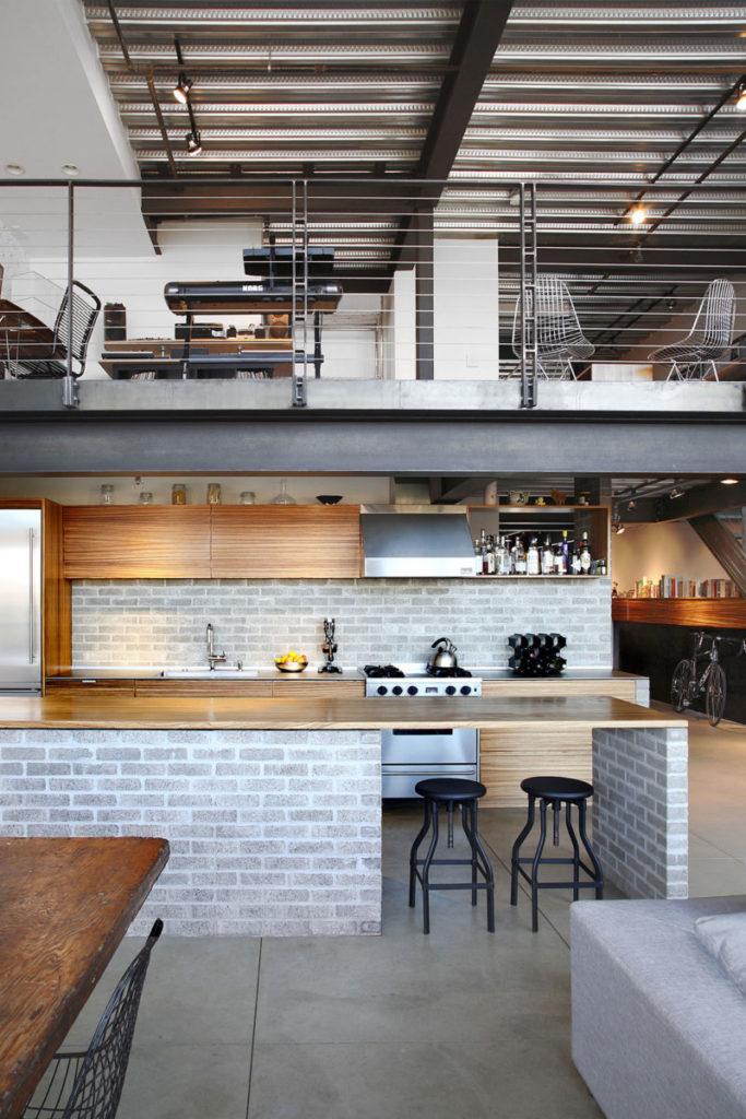 White Bricked Kitchen