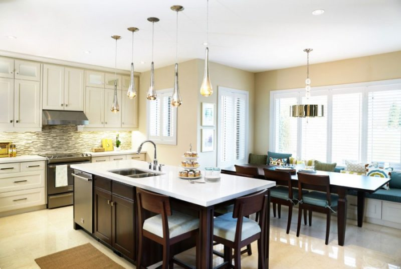 Modern White Kitchen Islands
