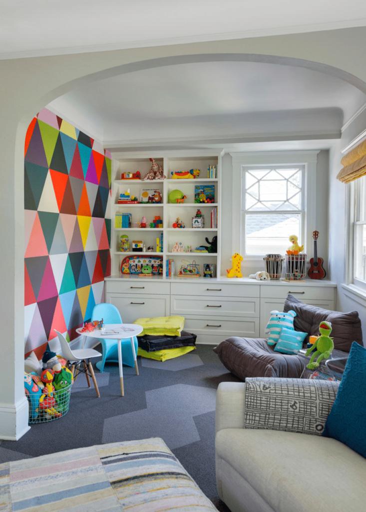 Multicolor Mural Living Room