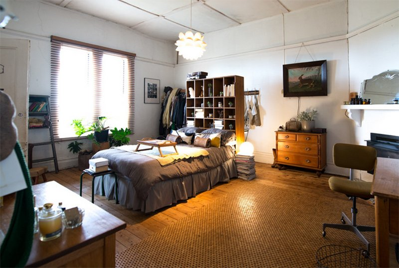 Cool Farmhouse Bedroom