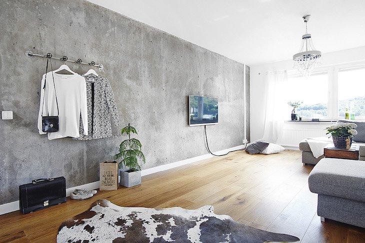 Concrete Accent Wall