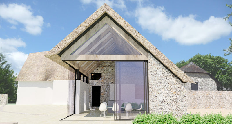 Thatched Farmhouse Extension Exterior