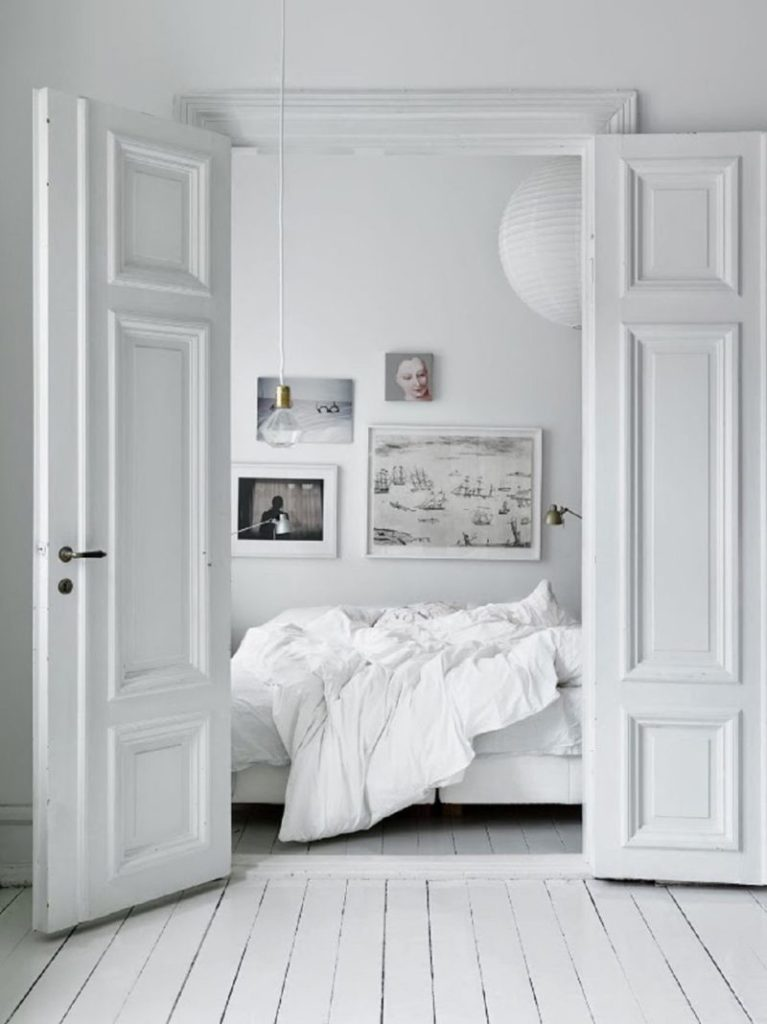 White Wooden Bedroom Floors