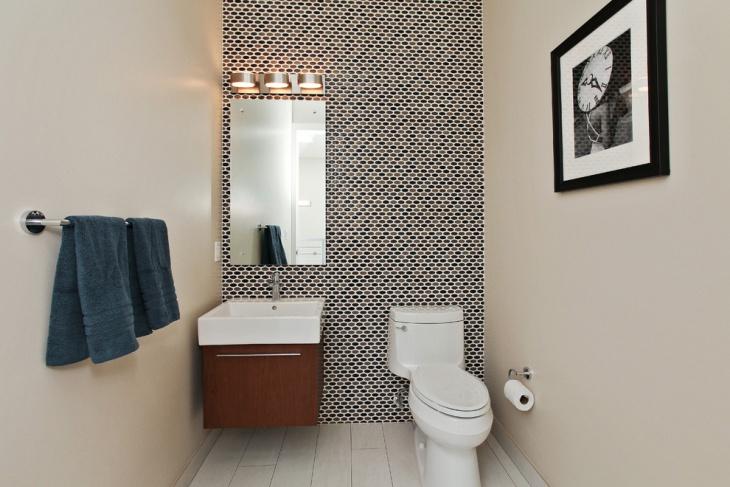 Half Bathroom Wall Pattern