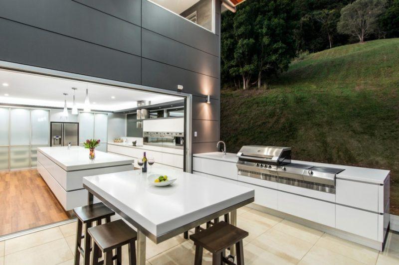Go Modern Backyard Kitchen