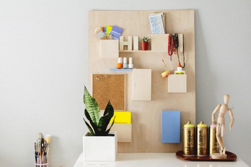 Anthropologie-Inspired DIY Desk Organizer
