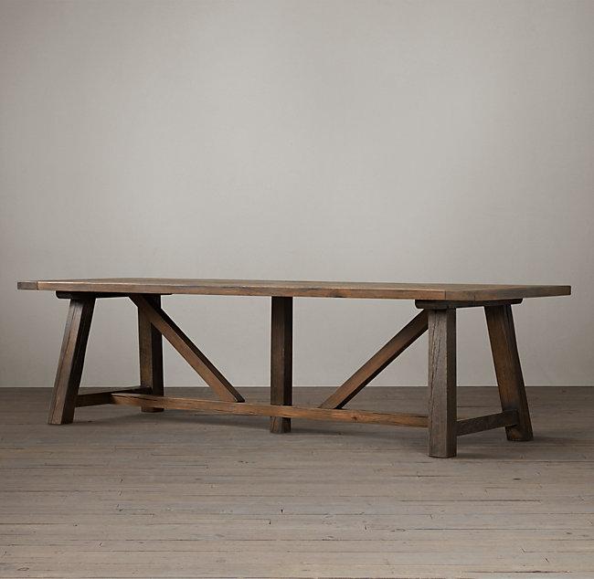 Trestle Rectangular Dining Table