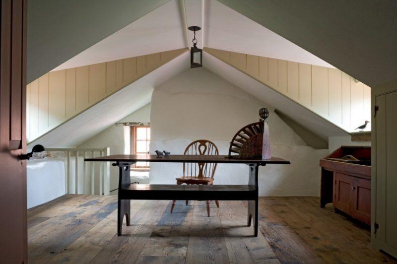 Antique Trestle Tables as Desks