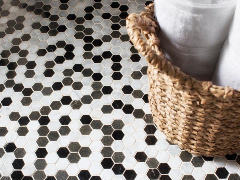 Budget bathroom floor covering